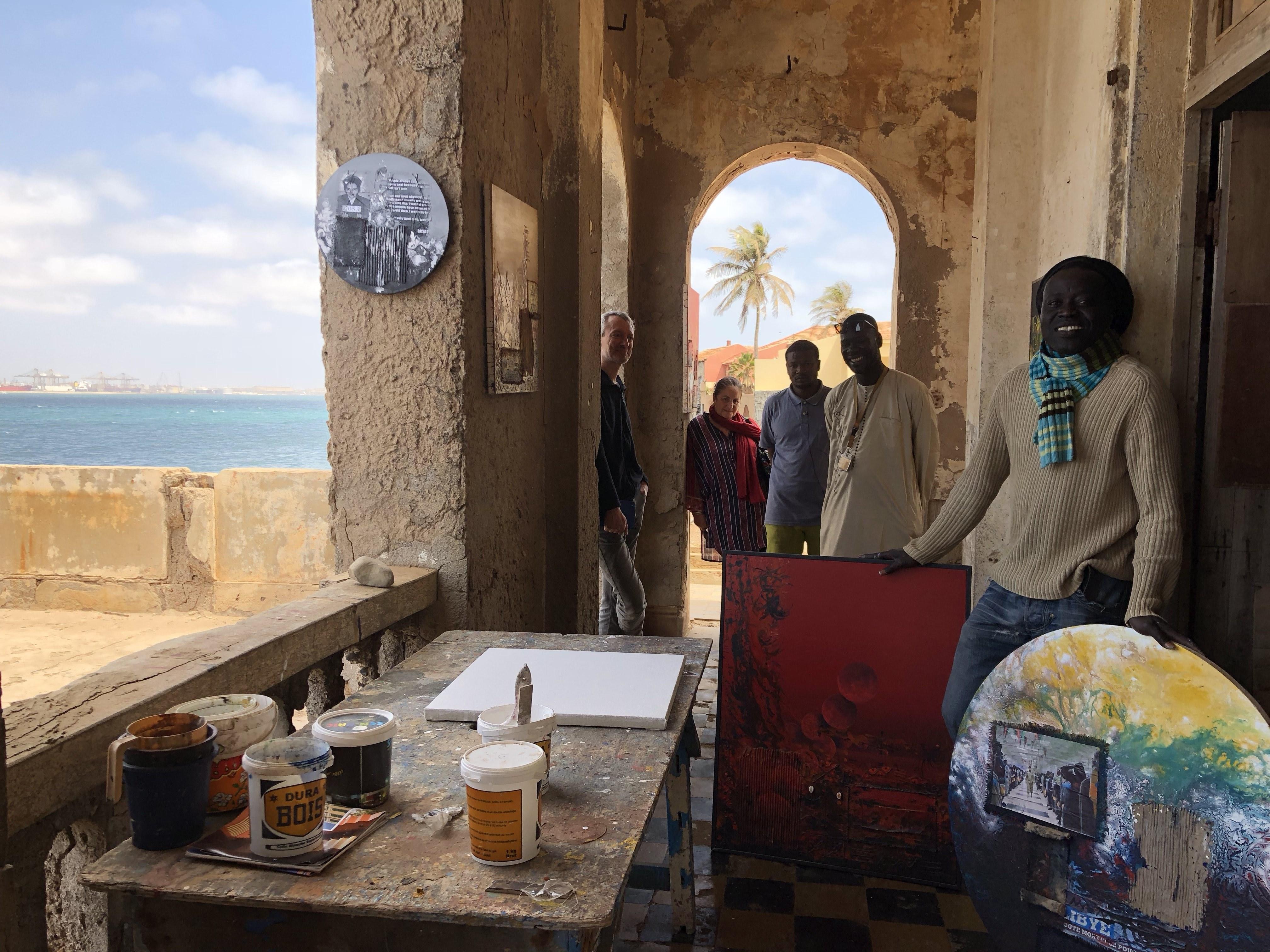 Bekende schilder Gorée